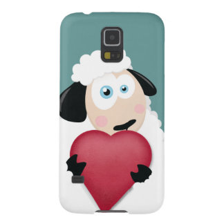 Blushing Sheep & Love Heart Galaxy S5 Cover