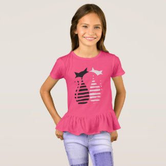 "Blusinha peplun childish ""Cats "" T-Shirt"