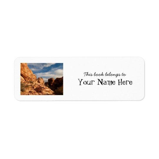 BLUSK Blue Sky Meets Red Rock Return Address Label