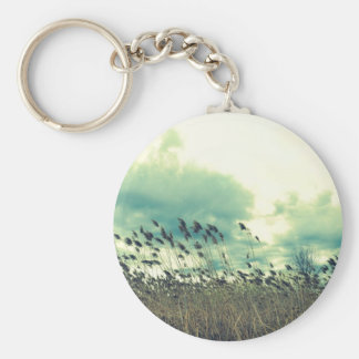 Blustering Field Basic Round Button Key Ring