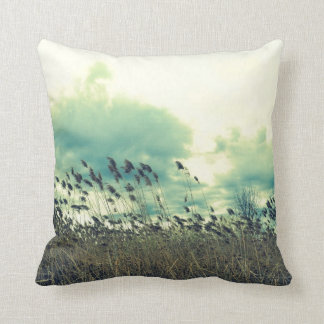 Blustering Field Throw Pillow