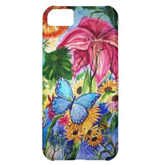 Blut Butterfly Garden Art Watercolor iPhone 5C Case