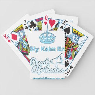Bly-Kalm-En-Praat-Afrikaans Bicycle Playing Cards