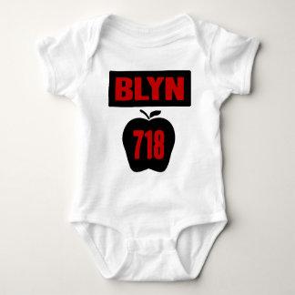 BLYN 718 Inside of Big Apple With Banner, 2 Color Baby Bodysuit
