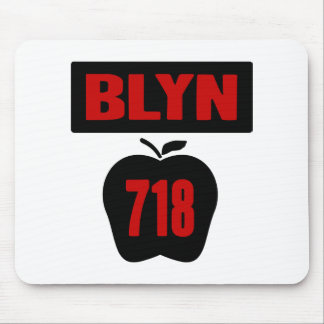 BLYN 718 Inside of Big Apple With Banner, 2 Color Mouse Pad