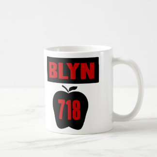 BLYN 718 Inside of Big Apple With Banner, 2 Color Mugs