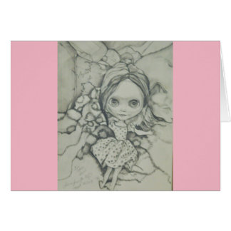 Blythe doll greeting card