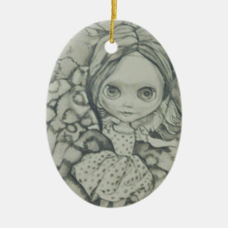 Blythe doll products ceramic ornament