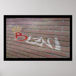 Blzn Brick Wall Poster