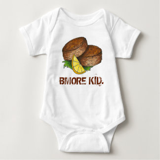 BMORE KID Baltimore Maryland Crab Cake Crabcake Baby Bodysuit