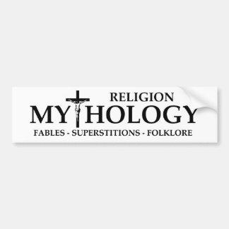 BMP Religion = Mythology Bumper Sticker