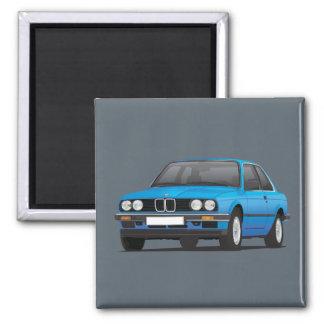 BMW E30 (3-serie) blue Magnet