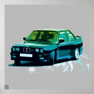 BMW M3 E30 POSTER