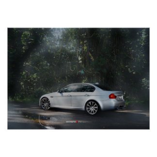 BMW M3 E90 in the Mist Poster