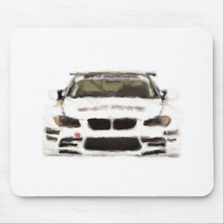 BMW M3 Racing Car Hand Painted Art Brush Template Mouse Pads