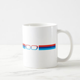 BMW M horizontal stripes and kidneys Basic White Mug
