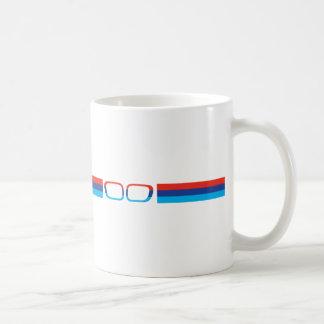 BMW M horizontal stripes and kidneys Basic White Mug