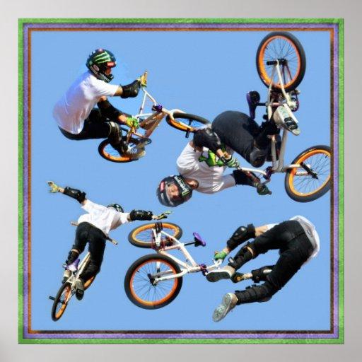 BMX  Art , Copyright Karen J Williams Print