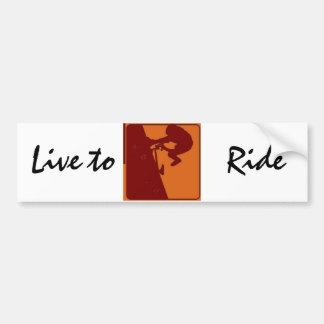 BMX Bike Rider Live to Ride Bumper Sticker