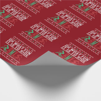 BMX Bike Rider Ugly Christmas Sweater Wrapping Paper
