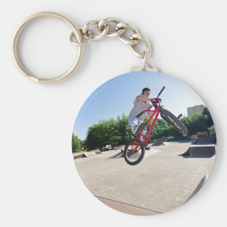 BMX Bike Stunt bar spin Keychains