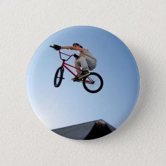 BMX Bike Stunt Table Top 6 Cm Round Badge