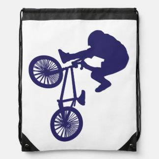BMX Biker Drawstring Bags