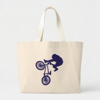 BMX Biker Large Tote Bag