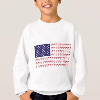 BMX Biker Patriotic Flag Sweatshirt