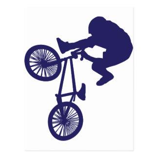 BMX Biker Postcard