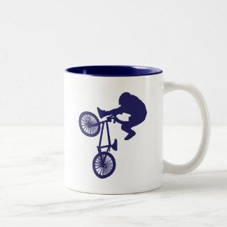 BMX-Biker Two-Tone Coffee Mug