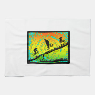 BMX City Tea Towel