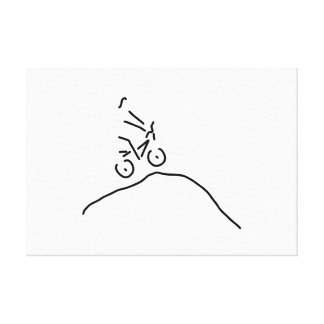 bmx cycle racing fun offroad canvas print