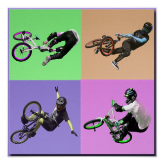 BMX Extreme Pop Art, Copyright Karen J Williams Print