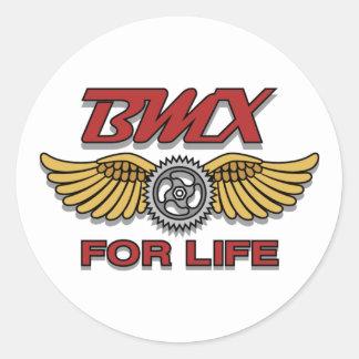 BMX for Life Classic Round Sticker