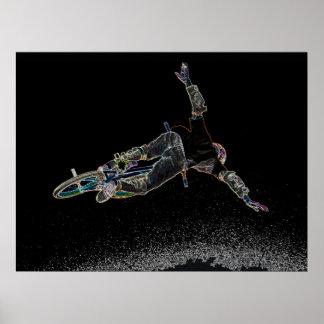 BMX Glow 2,  Copyright Karen J Williams Poster