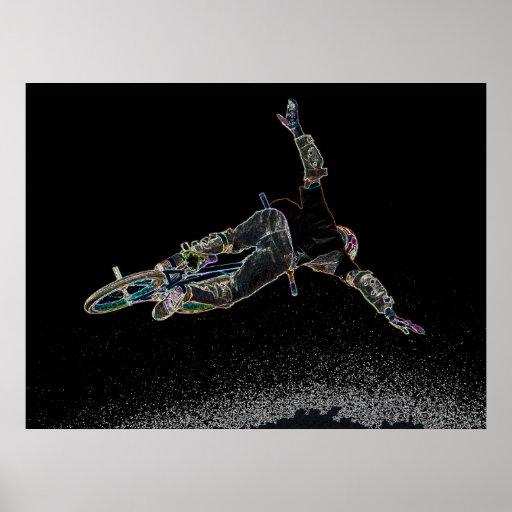 BMX Glow 2,  Copyright Karen J Williams Posters