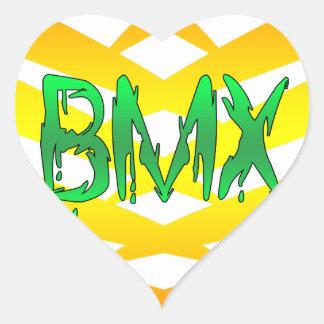 Bmx Heart Sticker