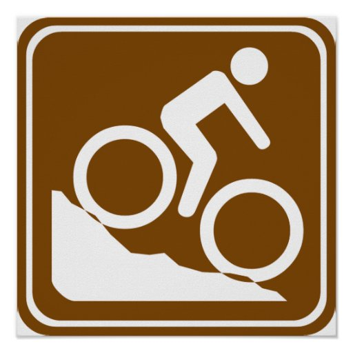 BMX Highway Sign Print