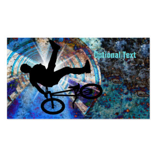 BMX in a Grunge Tunnel Double-Sided Standard Business Cards (Pack Of 100)