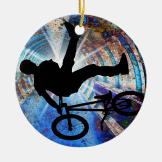 BMX in a Grunge Tunnel Ornaments