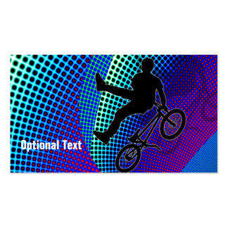BMX in Fractal Movie Marquee Business Card Template