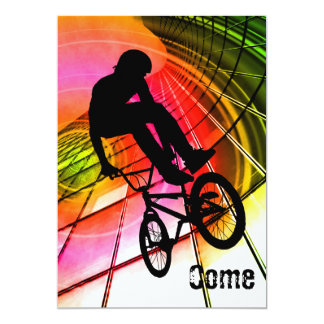 BMX in Lines and Circles 13 Cm X 18 Cm Invitation Card
