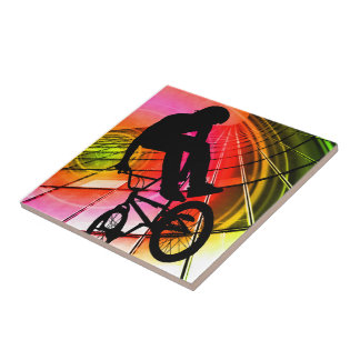 BMX in Lines and Circles Tiles