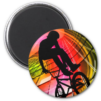 BMX in Lines & Circles Fridge Magnets