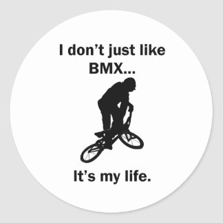 BMX It's My Life Classic Round Sticker