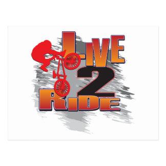 BMX Live to Ride Ride to Live Postcard