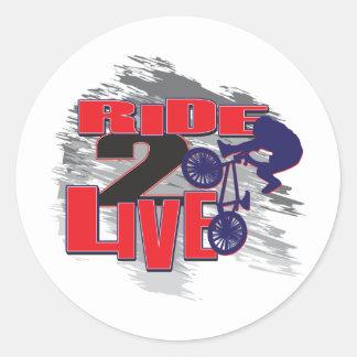BMX Live to Ride Ride to Live Round Sticker