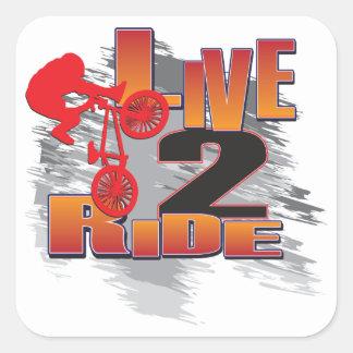 BMX Live to Ride Ride to Live Square Sticker