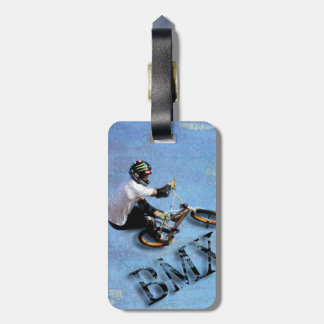 BMX Lugage Tag, Copyright Karen J Williams Luggage Tag